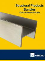 Structural Products Bundles Reference Guide