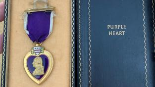 The Purple Heart was found by James Lowe in a car bought to be melted into steel.